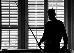 Film Noir - Hustling (zendt66) Tags: pool silhouette nikon noir picasa billiards louvers d90 52weeks2012 zendt66