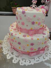Bolo falso flores rosa (By Iris Passos) Tags: flor rosa pasta americana bolo florzinha falso cenogrfico