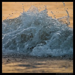 WAVES AND SUN 8 (Denis F...) Tags: ocean sunset sea orange sun mer beach water colors yellow swim jaune square soleil nager eau couleurs middleeast wave 365 oman vague plage muscat carre  mascate moyenorient  masqat