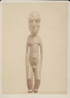 Wood:Effigy Called Kava Kava Moai:Found By James G.? Morgan on Chappaquiddick Island, Mass n.d.