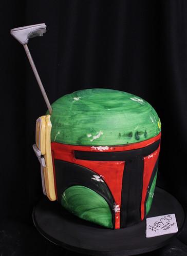 Boba Fett Helmet Custom Cake
