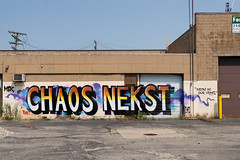 "chaos nekst ""neon in our veins"" (ExcuseMySarcasm) Tags: streetart graffiti chaos unitedstates michigan detroit msk nekst seventhletter guerrillaart excusemysarcasm neoninourviens"