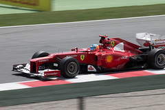 Fernando Alonso (GP Espaa) (agarca) Tags: barcelona red espaa cars canon eos 1 is rojo italia grand f1 ferrari racing prix spanish formula fernando gran 55 alonso 250 gp montmelo premio 55250 1100d