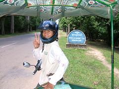Welcome to Angkor (oldandsolo) Tags: cambodia buddhism angkorwat worldheritagesite tuktuk guide siemreap buddhisttemple angkorarchaeologicalpark khmerkingdom theruinsofangkor buddhistfaith ethnickhmer ethniccambodians angkortempleruins worldslargesthindutemple