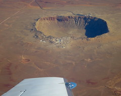 Circling Meteor Crater (jurvetson) Tags: trip arizona day space hike nasa foundation crater meteor excursion meteorite b612 winslow