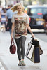 Fearne Cotton outside the BBC Radio 1 studios London, England