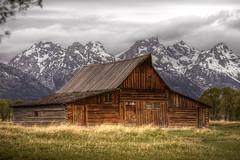 Mormon Row, Grand Tetons (JNovacek) Tags: sky mountains clouds barn nationalpark grandteton mormonrow