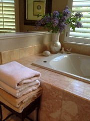 """A stack of fresh towels near the tub • <a style=""""font-size:0.8em;"""" href=""""http://www.flickr.com/photos/79686536@N02/7310274760/"""" target=""""_blank"""">View on Flickr</a>"""