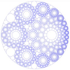 Recycling and Mixing Old Codes (fdecomite) Tags: circle geometry packing chain math inversion gask