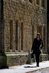 UK - Oxford - Walking down Brasenose Lane (Darrell Godliman) Tags: woman girl silhouette walking silhouettes oxford backlit backlighting brasenoselane ukoxfordwalkingdownbrasenoselanedsc4115
