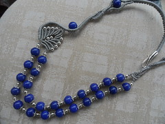 collana lapislazzuli (patty macramè) Tags: collier bijoux macrame collane gioielli macramè margaretenspitze