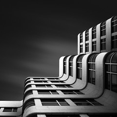 The Shape of Light XI - The Shell Haus Berlin (Joel Tjintjelaar) Tags: berlin shellhaus longexposurephotography nd110 joeltjintjelaar blackandwhitefineartphotography fineartarchitecturalphotography fineartarchitecture internationalawardwinningphotographer architecturallongexposurephotography blackandwhitefineartarchitecturalphotography