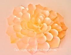 Pink Fantasy Flower w blog link-001 (Once Upon A Pedestal) Tags: cake pattern caketopper tutorial edibleflower fantasyflower waferpaper ediblericepaper onceuponapedestalblogspotcom wwwonceuponapedestalblogspotcom