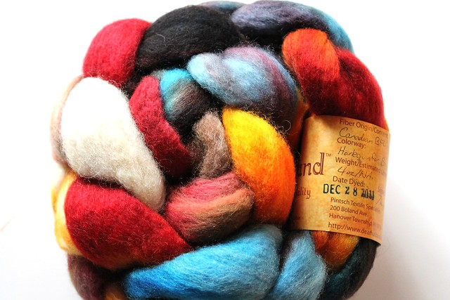 "Dear Husband Canadian BFL Fiber ""Harlequin for Boys"""