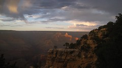 Cloudy Sunset over the Grand Canyon (Dieirdra) Tags: unprocessed