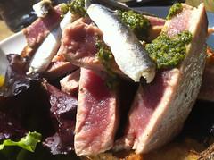 Tuna and anchovy salad
