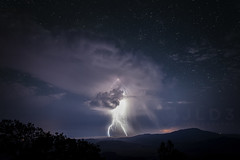Close Encounters Thunderstorm (Jim | jld3 photography) Tags: sky storm black mountains west night clouds dark stars nikon long exposure texas fort clear mount observatory bolt ft thunderstorm lightning 24mm davis storms locke mcdonald approaching vantage d800 f14g