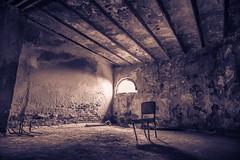 Castle Cell Room Black And White Art