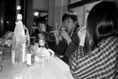 those times were so fine, so fine (troutfactory) Tags: friends party blackandwhite bw monochrome japan digital flash yukata  kansai arima     ricohgrd2