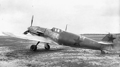 German fighter Messerschmitt Bf 109G-2 trials at the Air Force Institute of the Red Army