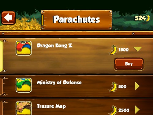 Banana Kong Items Store: screenshots, UI