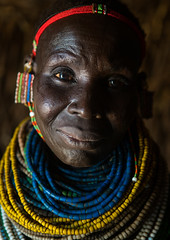 Nyangatom tribe woman with piles of beads, Omo valley, Kangate, Ethiopia (Eric Lafforgue) Tags: africa people color face vertical outdoors necklace women day adult african decoration jewelry tribal headshot indoors pile blackpeople bead omovalley earrings tradition ethiopia tribe ethnic cultural oneperson jewel developingcountry ethnicity hornofafrica ethiopian eastafrica abyssinia traditionalclothing realpeople blackskin beadednecklace bume onewomanonly lookingatcamera 1people indigenousculture africanculture ethnicgroup bodyadornment nyangatom kangate blackethnicity ethiopianethnicity kangatan ngakaaly ethio161688