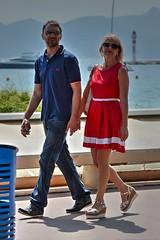 DSE_4548 (ze06) Tags: street woman sexy festival couple dress cannes candid blonde heels minidress croisette