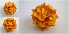 Origami Kusudama (Charul's Origami) Tags: origami paperfolding kusudama 30units ekaterinalukasheva rectangles12