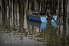 Solitaria (Panthea616) Tags: azul see mar barca barque reflejos 7dwf