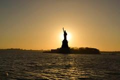 Statue Of liberty (1 van 1) (Siriste) Tags: new york city statue liberty sundown