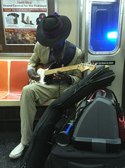 Morning serenade (Adam Ames) Tags: nyc subway commute commuting
