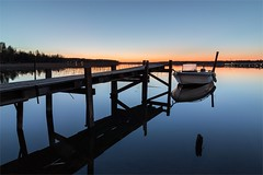 Blue morning (Basri Ahmedov) Tags: blue sunrise canon suomi finland boat tammisaari 80d