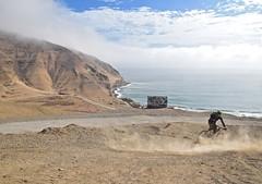 Coastal Mountain biking (thaddeusces) Tags: peru lima mountainbike coastline mountainbiking actionshot limaperu coastalperu