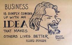Branson (Mediocre2010) Tags: inspiration quote richard branson sketchnotes
