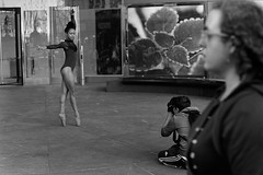 Street Ballet (slightheadache) Tags: nyc newyorkcity blackandwhite bw film pentax tmax pentaxk1000 filmcamera 2016 streetballet