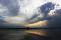 Dusk... (Debmalya Mukherjee) Tags: sunset lake reflection clouds evening dusk cloudscape dallake jammuandkashmir 1018mm canon550d debmalyamukherjee