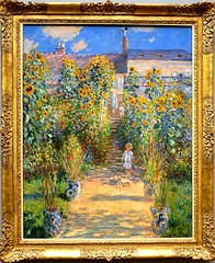 The Artist's Garden at Vetheuil by Claude Monet (1880). Exhibit at the National Gallery of Art, Washington, D.C. (lhboudreau) Tags: flowers flower art gardens museum garden painting washingtondc smithsonian dc artwork gallery paintings monet painter impressionism artmuseum impressionist nationalgalleryofart claudemonet 1880 washinton classicart vetheuil classicpainting frenchimpressionism thenationalgalleryofart artistsgarden impressionistpainting theartistsgarden impressionistpainter