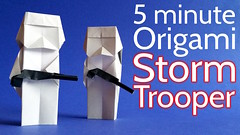 Origami Stormtrooper (origami.plus) Tags: diy starwars origami crafts models stormtrooper papiroflexia tutorial papertoys papertoy