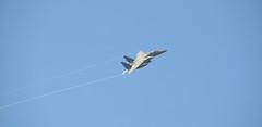 Vlieland - Vliehors - Flyby F-15 (Dirk Bruin) Tags: vlieland vliehors f35 f15 strike eagle flyby cornfield range klu usairforce usaf 48th operations group aircraft jetfighter fotoankebruin