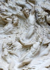 Ex Nihilo (close up), Western Facade of the National Cathedral, Washington, DC, U.S. // by  Frederick Hart / photo by Jeff Dean (mike catalonian) Tags: sculpture us washington cathedral relief marble