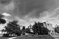 Abbazia Santa Giustina, Prato Della Valle, Padova (Davide Anselmi) Tags: bw blackwhite italia bn prato biancoenero padova pratodellavalle 2016 abbaziasantagiustina davideanselmi