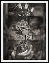 laneway figures IV (Andrew C Wallace) Tags: camera city streetart blur sepia lensbaby ir graffiti eyes photographer dof australia melbourne victoria infrared cbd laneway schoolgirl hosierlane tiltshift nikon50mmf14 tilttransformer olympusomdem5