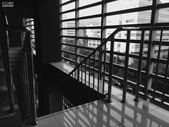 Long way down... (KanaLeo) Tags: blackwhite feeling shadow monochrome iphone5s kanaphotography sunshine quiet white while