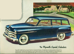 1950 Plymouth Suburban Station Wagon (coconv) Tags: pictures auto door old 2 art classic cars car station illustration vintage magazine ads painting advertising wagon cards photo flyer automobile all post image suburban photos drawing antique steel postcard ad picture plymouth images advertisement vehicles photographs card photograph postcards vehicle mopar autos collectible collectors 50 brochure 1950 automobiles dealer prestige