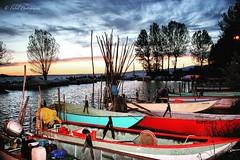 Boats Sunset..!!! (fabriziobelia) Tags: sunset sun lake nature canon boats umbria trasimeno canoneos600d