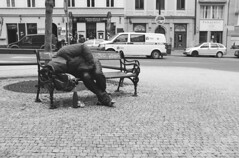 Prague - Sleep (Ben O'Reilly) Tags: street travel vacation people blackandwhite monochrome nap republic czech prague sleep homeless praha junkie herion