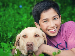 a boy and his dog (scoopsafav) Tags: boy portrait dog pet color green beauty face kids portraits puppy children happy kid model eyes lab labrador child close naturallight canine greeneyes teen hazel teenager bestfriends preteen leighduenasphotography