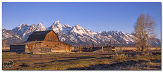 WANTED: Clouds (Reid Wolcott) Tags: park mountains barn sunrise spring grand row national mormon wyoming teton range wy moulton gtnp