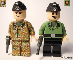 Waffen SS Panzer Crew WWII LEGO (MR. Jens) Tags: world two finland denmark war wiking wwii ss german ww2 dane division finn 5th troops panzer