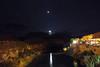 Venus and moon set over San Juan River, US163, Utah [Explore] (Robyn Hooz) Tags: moon hat set canon reflections river eos utah san long exposure tramonto venus juan fiume luna mexican sanjuan venere mexicanhat lunga esposizione stelle riflesso 600d ef1740l